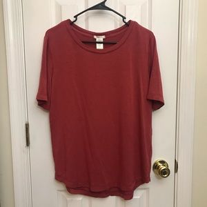 matty m short sleeve top, red shade, super soft